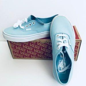 7ec7966a9c Vans Shoes - Vans authentic crystal blue  white skate shoes